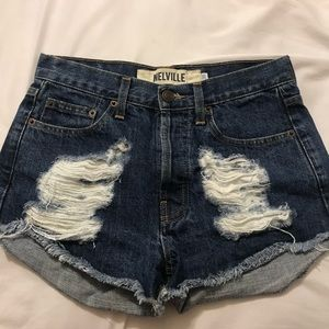 🌊 Brandy Melville distressed shorts 🌊